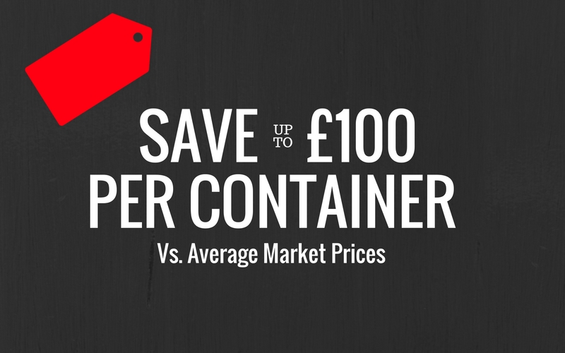 Save £100 on 10ft storage containers
